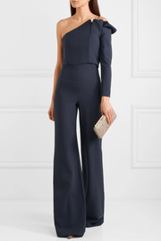 Ardenia one-shoulder stretch-crepe jumpsuit