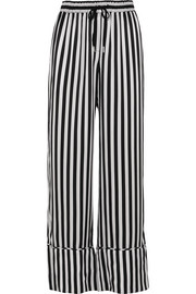 Nicolas striped silk-satin wide-leg pants
