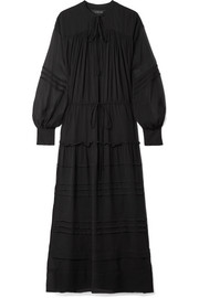 Lee Mathews Meredith silk-georgette maxi dress