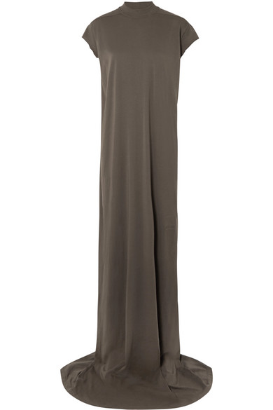 Rick Owens - Cotton-jersey Maxi Dress - Gray