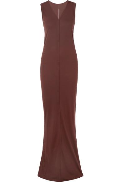 Rick Owens - Jersey Maxi Dress - Burgundy