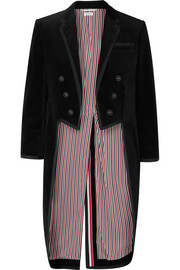 Grosgrain-trimmed cotton-velvet tuxedo jacket
