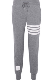 Striped knitted track pants
