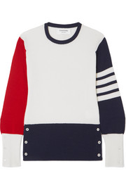 Thom Browne Color-block cashmere sweater
