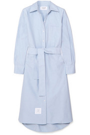 Thom Browne Belted cotton shirt dress