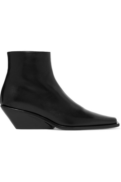 Ann Demeulemeester Boots Glossed-leather ankle boots