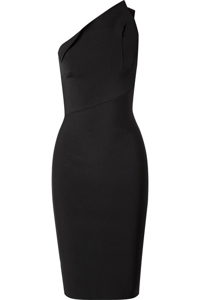Roland Mouret - Hepburn One-shoulder Stretch-knit Dress - Black