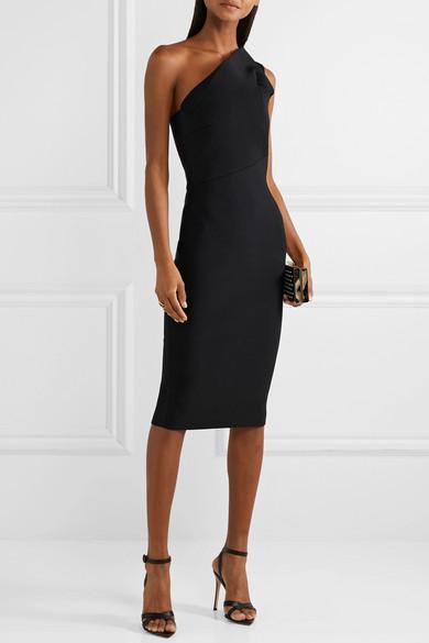 ec90e1f3f8d Roland Mouret. Hepburn one-shoulder stretch-knit dress