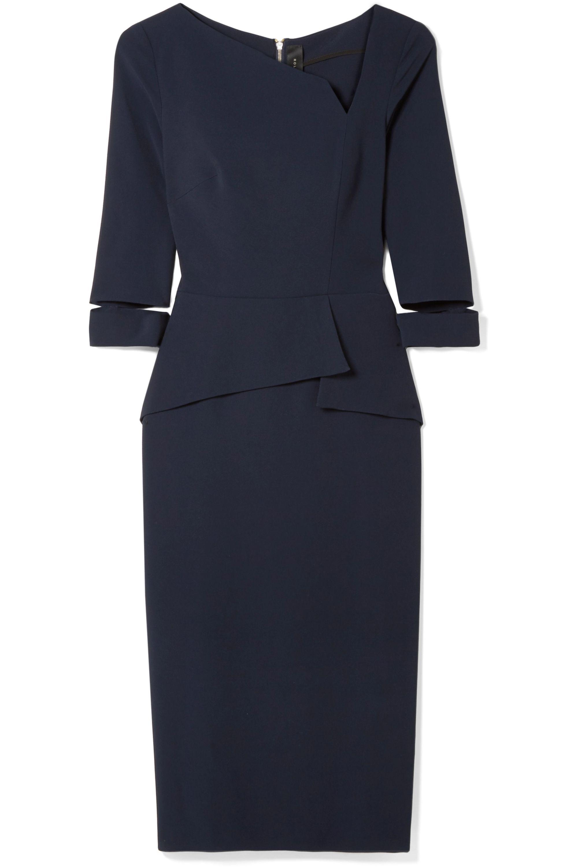 Roland Mouret Dunne asymmetric cutout crepe dress