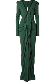 Roland Mouret Compeyson cutout ruffled stretch-crepe gown