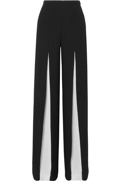 Burton Wide-Leg Wool-Crepe Palazzo Trousers in Black