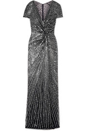 Jenny Packham Avani knotted sequined tulle gown