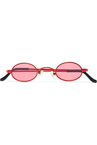 e84bfb5dde Roberi   Fraud. Doris round-frame metal sunglasses