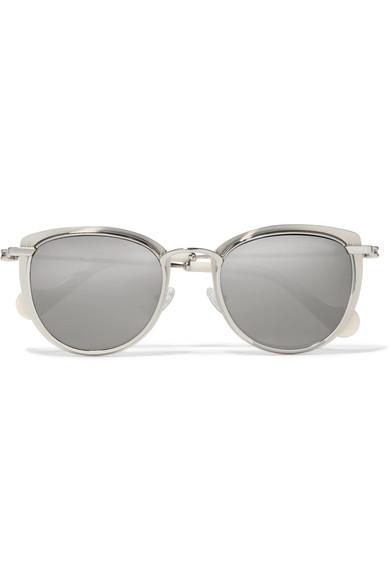 Frame Tone And Sunglasses Acetate Mirrored Palladium MonclerRound wZTkXPiOu