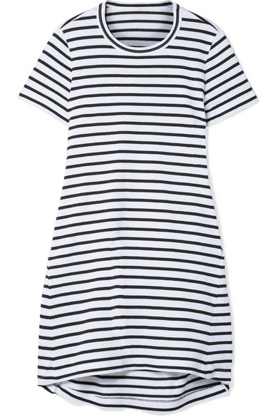 Outlet Store For Sale Dixie Cutout Striped Cotton-jersey Mini Dress - White sacai Cheap Sale Pick A Best Store Clearance With Paypal Outlet Latest Collections Qhb415kk