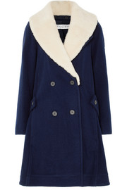 JW Anderson Oversized shearling-trimmed wool coat