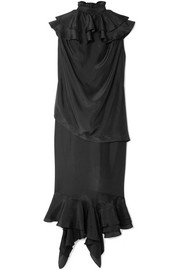 JW Anderson Ruffled silk midi dress