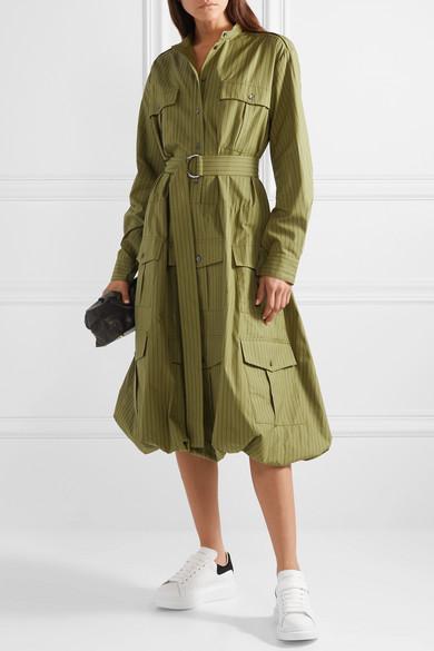 Kleid Aus Baumwollpopeline Mit Nadelstreifen Und Gürtel by Jw Anderson