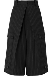 JW Anderson Pinstriped wool-blend culottes