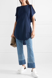 JW Anderson Draped cotton-jersey top