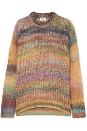 Acne Studios Striped open-knit sweater