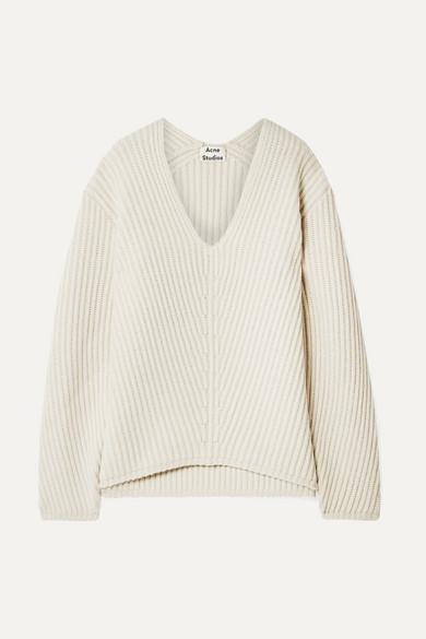 Deborah Oversized Wool Sweater in Beige