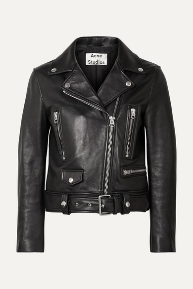 Lambskin Moto Jacket - Black Size 36 Fr from FORWARD