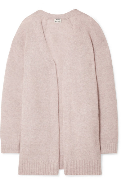 Raya Mélange Knitted Cardigan by Acne Studios