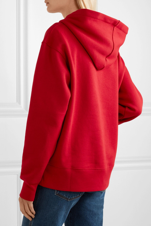Acne Studios Ferris Face appliquéd cotton-jersey hoodie