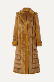 Acne Studios Faux fur-trimmed bouclé coat