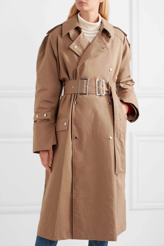 Acne Studios Oversized cotton-twill trench coat