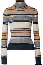 Acne Studios Ribbed striped merino wool turtleneck sweater