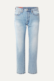 1997 distressed high-rise straight-leg jeans