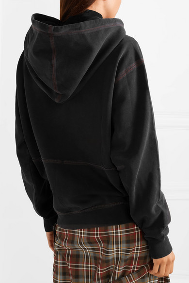 Acne Studios Tops Embroidered cotton-jersey hoodie