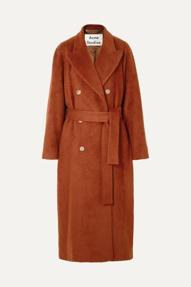 ACNE STUDIOS Belted mohair-blend coat