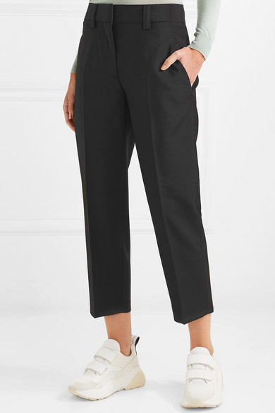 Acne Studios Pants Cropped wool and mohair-blend pants
