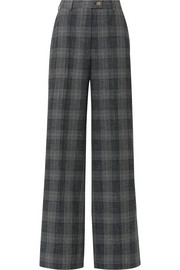 Acne Studios Checked wool and cotton-blend wide-leg pants