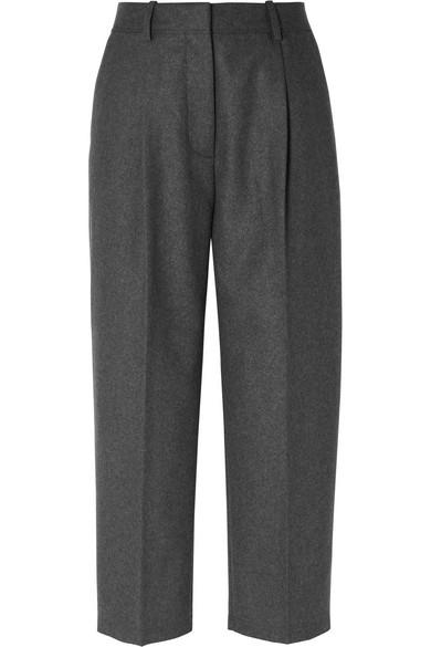 Acne Studios - Cropped Wool-blend Straight-leg Pants - Gray