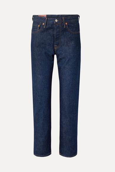1997 High-Rise Straight-Leg Jeans in Mid Denim