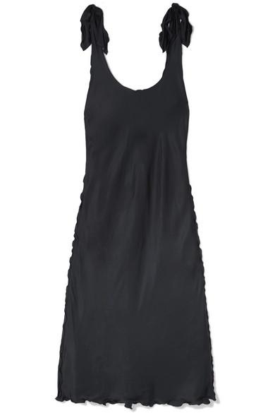 Bow Detailed Satin Midi Dress by Acne Studios