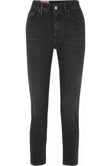 Melk High-Rise Tapered Jeans in Black