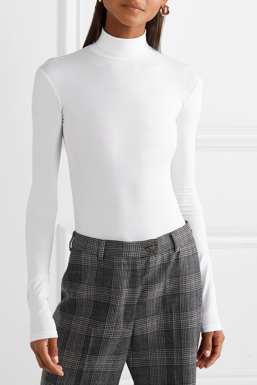 Acne Studios 弹力棉平纹布高领连体紧身衣