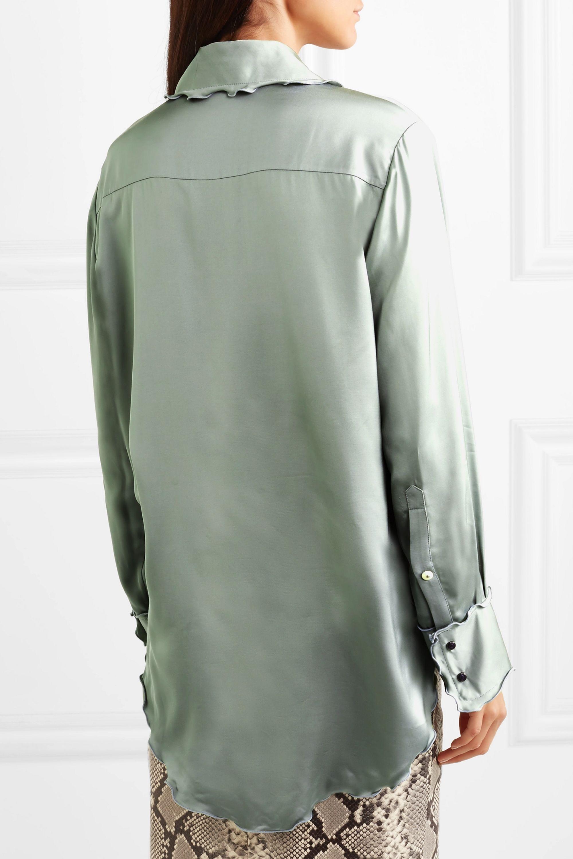 Acne Studios Ruffled satin shirt