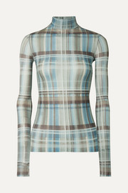Acne Studios Checked microfiber turtleneck top