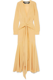 Jacquemus Viavélez twist-front georgette maxi dress