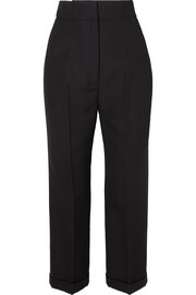 Cariño cropped crepe straight-leg pants