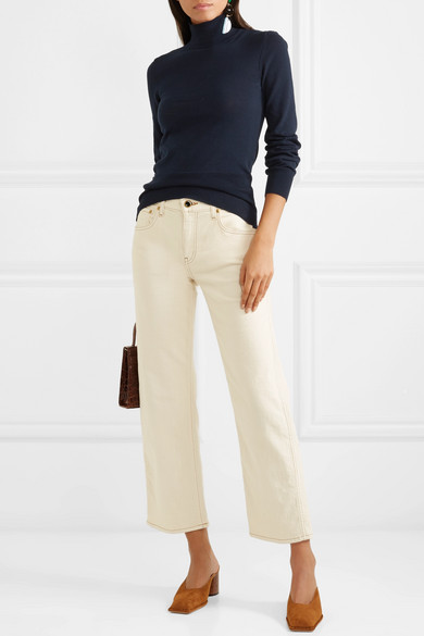 Jacquemus Tops Baya cutout cotton-blend turtleneck sweater