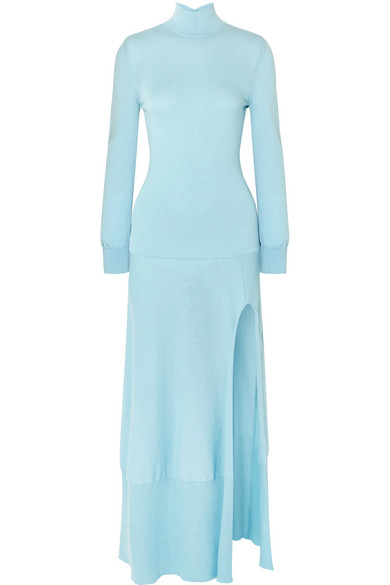 Jacquemus - Baya Cutout Cotton-blend Maxi Dress - Sky blue
