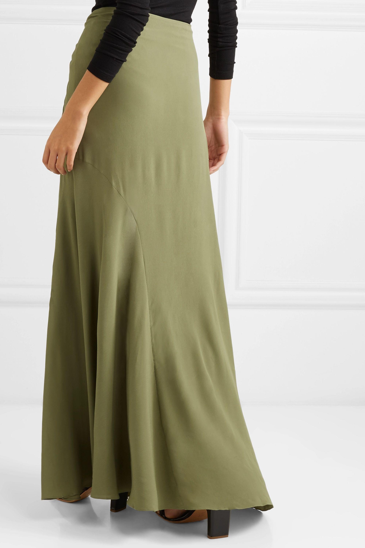 Jacquemus Sahil asymmetric draped crepe skirt