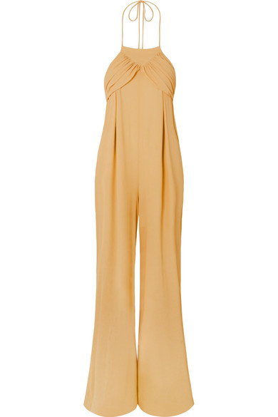 JACQUEMUS L'Ensemble Saha Crepe De Chine Jumpsuit in Yellow
